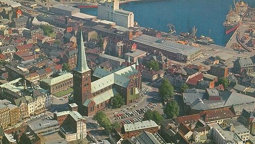 Luftfoto, Århus domnkirke